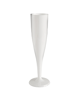 """flÛtes injectÉes """"champagne"""" 125 ml Ø 4,9x20 cm blanc cristal ps (120 unitÉ)"""