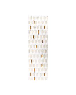 bread bags 'ceres' 33 gsm 14+9x46 cm white cellulose (500 unit)