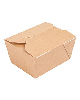 boÎtes amÉricaines micro-ondables 'thepack' 780 ml 220 + 12pp g/m2 11,3x9x6,3 cm naturel carton ondulÉ nano-micro (500 unitÉ)
