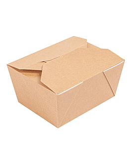 microwavable boxes rectangular 'thepack' 780 ml 220 + 12pp gsm 11,3x9x6,3 cm natural nano-micro corrugated cardboard (500 unit)