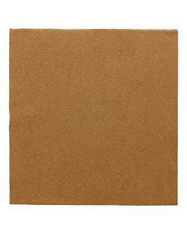 serviettes ecolabel 'double point' 18 g/m2 33x33 cm havane ouate (1200 unitÉ)