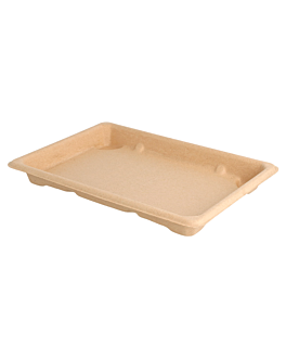 cajas sushi 'bionic' 18,5x13x1,5 cm natural bagazo (800 unid.)