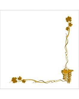 ecolabel napkins 'double point - bacchus' 18 gsm 40x40 cm white tissue (1200 unit)