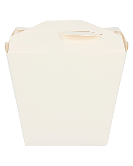 oriental food containers 280 + 18pe gsm 7,7x5,7x9 cm white cardboard (50 unit)