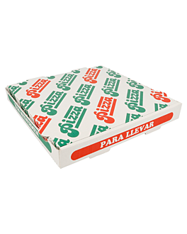 corrugated pizza boxes 348 gsm 26x26x3,5 cm white cardboard (100 unit)