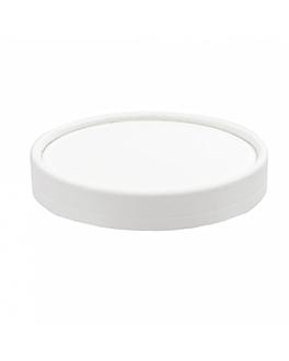 tapas tarrinas helados 120 ml 280 + 18 pe g/m2 Ø7,7 cm blanco cartoncillo (1000 unid.)