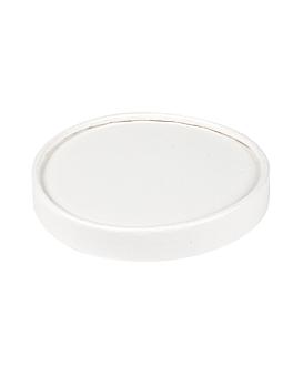 couvercles pots À glaces 120 ml 280 + 18 pe g/m2 Ø7,7 cm blanc carton (1000 unitÉ)