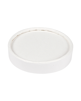 lids for ice-cream tubs 120 ml 280 + 18 pe gsm Ø7,7 cm white cardboard (1000 unit)