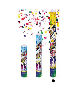 12 tubos confetti shooter 60 (h) cm surtido (1 unid.)