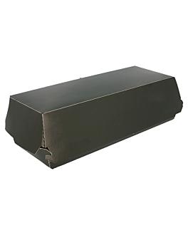 """scatole """"panini"""" 275 g/m2 26x12x7 cm nero cartone (300 unitÀ)"""