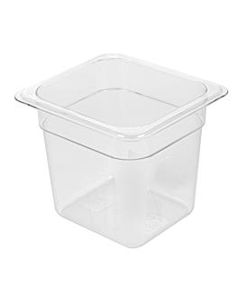 gastronorm pan 1/6 1,9 l 17,6x16,2x15 cm clear polycarbonate (1 unit)