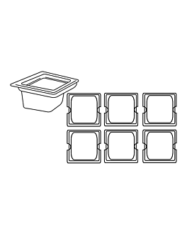 gastronorm pan 1/6 1,9 l 17,6x16,2x15 cm silver stainless steel (1 unit)