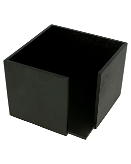 napkins holder 13,5x13,5x10 cm black bamboo (1 unit)