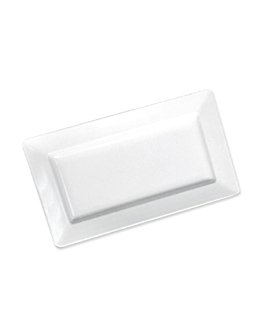 vassoi rettangolari 44,5x22x4,5 cm bianco melamina (6 unitÀ)