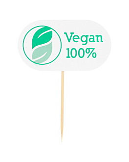"""vegan"" markers 8 cm white wood (100 unit)"