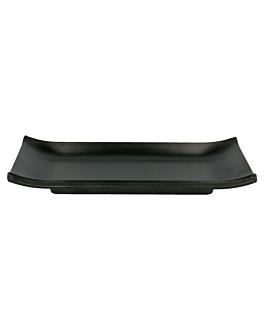 piatti sushi 22,4x9,5 cm nero melamina (18 unitÀ)