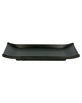 sushi plates 22,4x9,5 cm black melamine (18 unit)