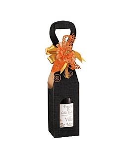 100 e. pappkarton fÜr 1 flasche 9x9x41 cm schwarz karton (100 einheit)