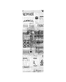 bolsas para sÁndwiches 'parole' 35+20 g/m2 12+4x35 cm plateado pergamino + aluminio (500 unid.)