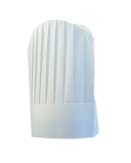 "toques continental chef's ""round top"" 31 cm blanc airlaid (10 unitÉ)"