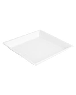 assiettes 'bionic' 18x18x1,5 cm blanc bagasse (400 unitÉ)