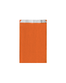 sacchetti piani unicolore 60 g/m2 12+5x18 cm arancio celulosa (250 unitÀ)