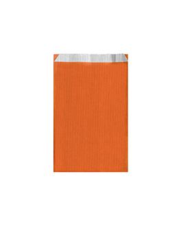 bolsas planas unicolor 60 g/m2 12+5x18 cm naranja celulosa (250 unid.)
