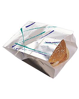 """burger bags """"volare"""" 35 gms 14+4x18 cm silver parchment+aluminium (500 unit)"""