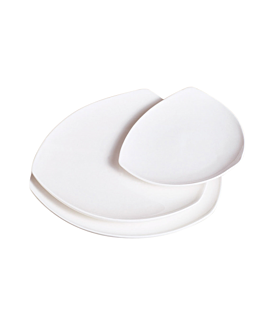 platos triangulares 25,5x3,4 cm blanco porcelana (4 unid.)