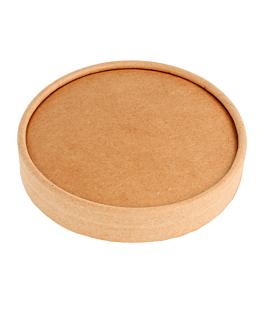 lids for salad bowls for items 212.99, 212.98, 226.64 300 + 18 pe gsm Ø15 cm brown kraft (300 unit)