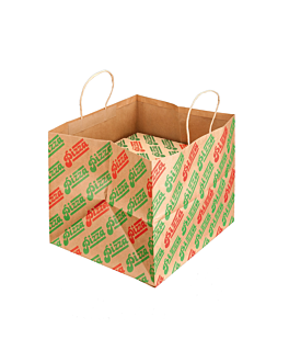 sos bags for pizza boxes 'pizza' 37+33x32 cm natural kraft (100 unit)