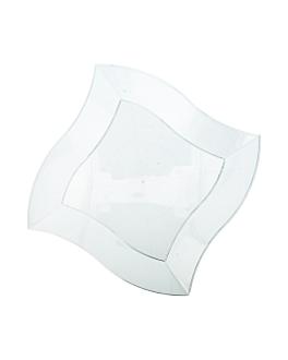 recipientes cuadrados irregulares 22,5 cm transparente ps (150 unid.)