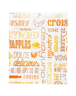 sachets croissants 'parole' 33 g/m2 12+5x14 cm blanc cellulose (500 unitÉ)