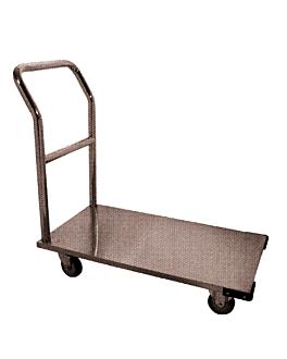 transport trolley capacity 100 kg 52x91x91 cm silver iron (1 unit)
