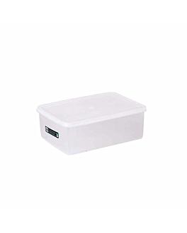 recipiente alimentos + tapa incorporada 1450 ml 20,5x14x7,4 cm blanco pp (1 unid.)