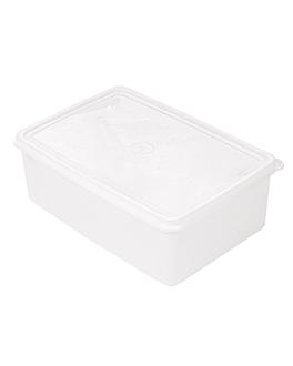 rÉcipient aliments + couvercle incorporÉ 1450 ml 20,5x14x7,4 cm blanc pp (1 unitÉ)