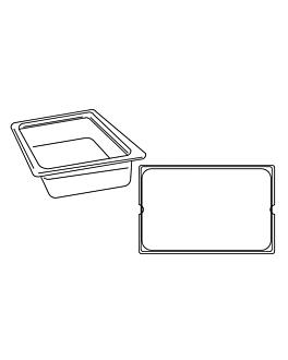 gastronorm pan 1/1 12,5 l 53x32,5x10 cm clear polycarbonate (1 unit)