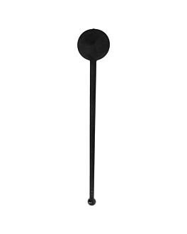 """mezcladores bebidas """"inglÉs"""" 17,5 cm negro ps (100 unid.)"""