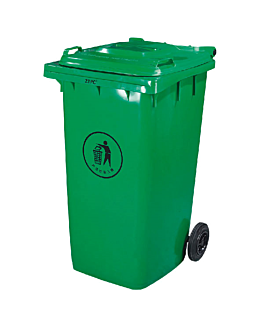 container with lid, 2 wheels 240 l 101,5x59x74 cm green pehd (1 unit)