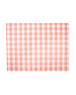 table mats 'like linen - vichy' 70 gsm 30x40 cm red spunlace (800 unit)