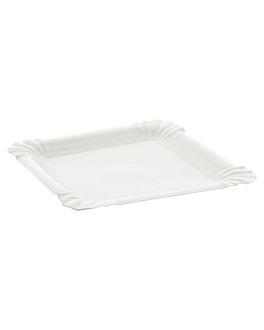 bandejas para hamburguesas 13x13 cm blanco cartoncillo (2000 unid.)