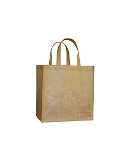 saco por decorar com asas 260 g/m2 29+18x30 cm natural juta (10 unidade)