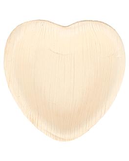 """piatti """"cuore"""" 'areca' 10x10x1,5 cm naturale areca (200 unitÀ)"""