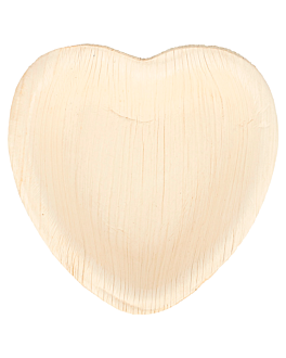 "assiettes ""coeur"" 'areca' 10x10x1,5 cm naturel areca (200 unitÉ)"