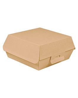 conchas hamburguesa 'thepack' 220 g/m2 17,5x18x7,5 cm natural cartÓn ondulado nano-micro (300 unid.)