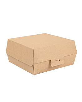 conchas hamburguesa 'thepack' 220 g/m2 17,6x16,8x7,8 cm natural cartÓn ondulado nano-micro (300 unid.)