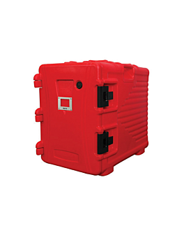 isothermal case 90 l 62x43x64 cm red plastic (1 unit)