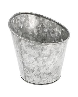 bicchiere troncato per fritti Ø 12,7x13,5 cm zincato acciaio (1 unitÀ)