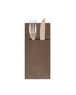 servilletas canguro 55 g/m2 40x40 cm chocolate airlaid (700 unid.)