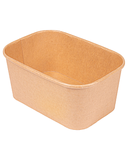 contenedores rectangulares 1000 ml 330 + 30 pe g/m2 17,3x12,3x7,5 cm natural kraft (300 unid.)